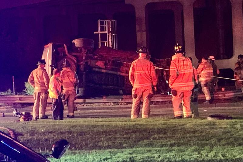 A rollover crash has shut down NC Music Factory Boulevard in Charlotte early Monday morning.