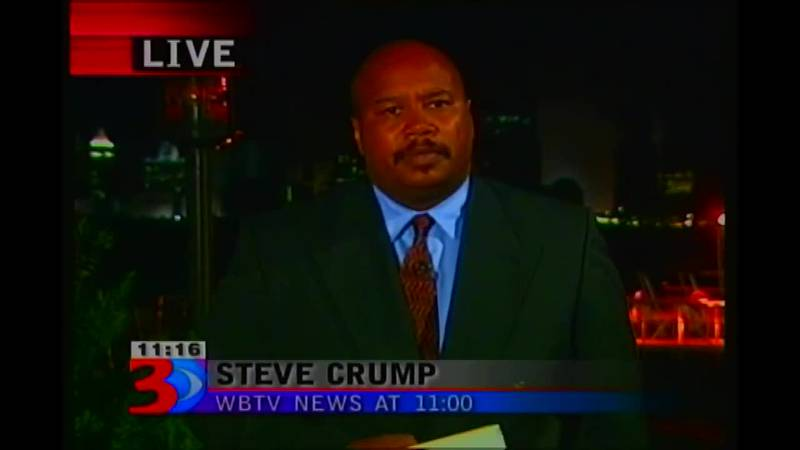 Steve Crump's first live shot from the scene of the Sept. 11 attacks