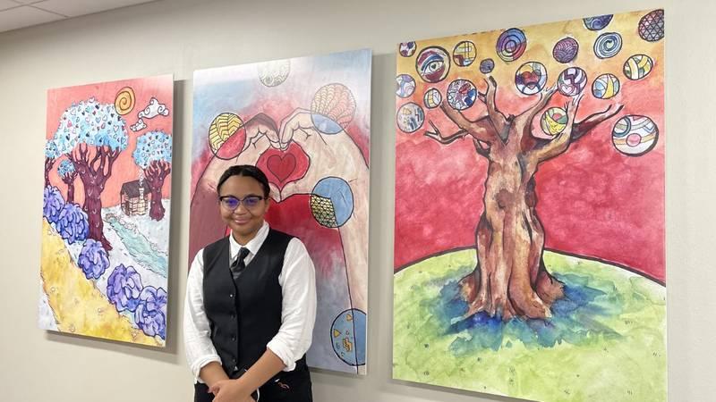 Aniya O'Neal, a junior at North Rowan High School, created the artwork.