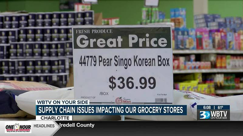 East Charlotte supermarket working to keep prices down for customers amid supply chain issues