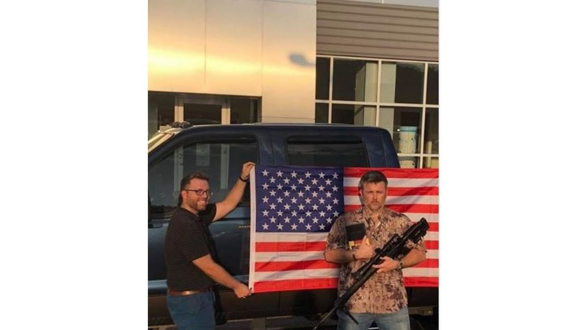 """A dealership in South Carolina is running a """"God Guns and America"""" promotion."""