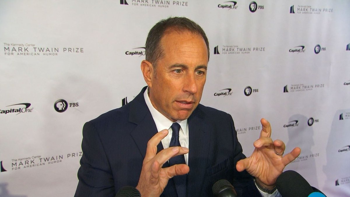 """""""Seinfeld,"""" created by Jerry Seinfeld (pictured) and Larry David, aired for nine seasons from..."""