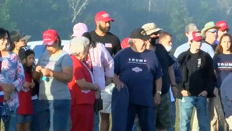 Many came out for President Trump's campaign stop in Lumberton on Saturday.