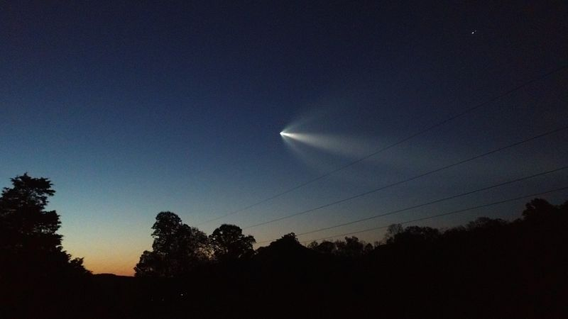 SpaceX launch from Alexander County