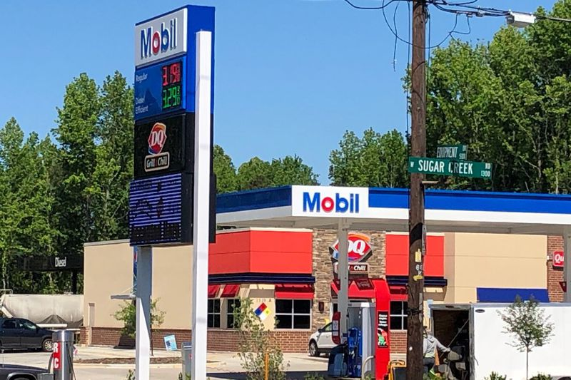 A truck driver says she was filling up her personal car Wednesday night at Mobil/Queens Market...