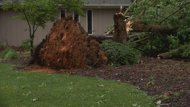 Friday's storms made a mess in Gaston County. Several homes are damaged and without power.