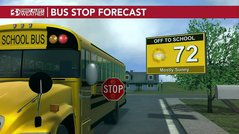 Bus Stop Forecast: Warm and muggy but sunny skies and dry conditions